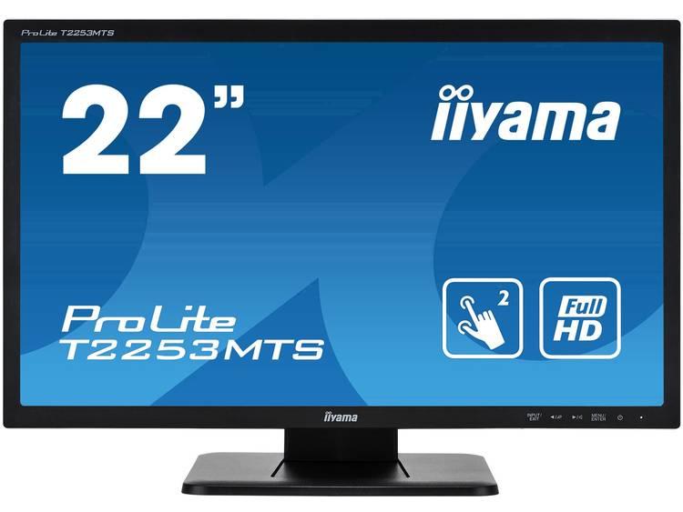 Iiyama ProLite T2253MTS Touchscreen monitor 54.6 cm (21.5 inch) Energielabel A (A+++ – D) 1920 x 1080 pix Full HD DisplayPort, HDMI, USB, VGA,