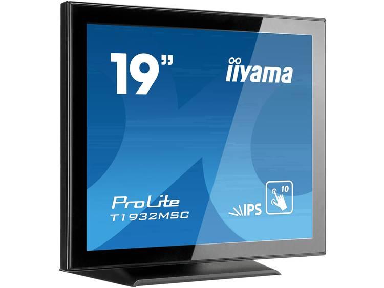 Iiyama ProLite T1932MSC Touchscreen monitor 48.3 cm (19 inch) Energielabel B (A+++ – D) 1280 x 1024 pix SXGA 14 ms DisplayPort, HDMI, VGA, Audio-Line-out IPS