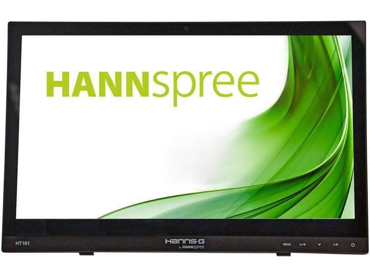Hannspree HT161HNB Touchscreen monitor Energielabel: A++ (A++ – E) 39.6 cm (15.6 inch) 1366 x 768 pix 16:9 12 ms HDMI, VGA, USB, Hoofdtelefoon (3.5 mm jackplug)