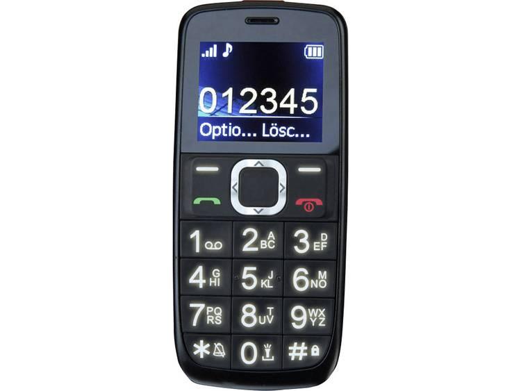 Switel M170Bravo Senioren mobiele telefoon SOS-knop, Met laadstation Zwart