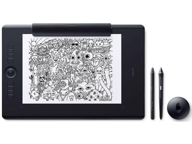 Wacom Intuos Pro M Paper Edition (FR, ES, IT, NL) Bluetooth Grafisch tablet Zwart