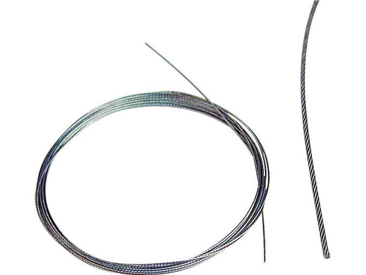 Staalkabel Kavan Lengte: 2000 mm Buitendiameter: 0.75 mm