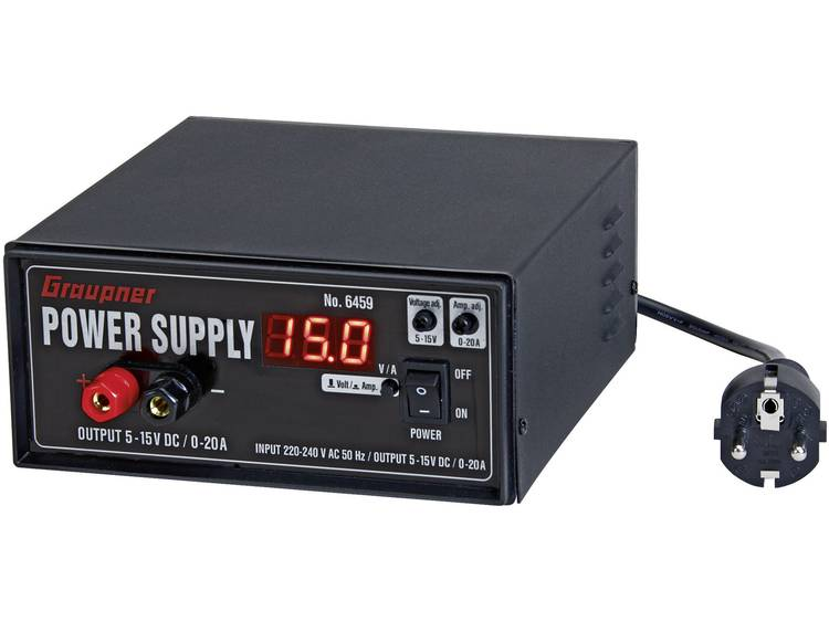 Modelbouwnetvoeding, regelbaar Graupner Power Supply 230 V/AC 20 A 300 W