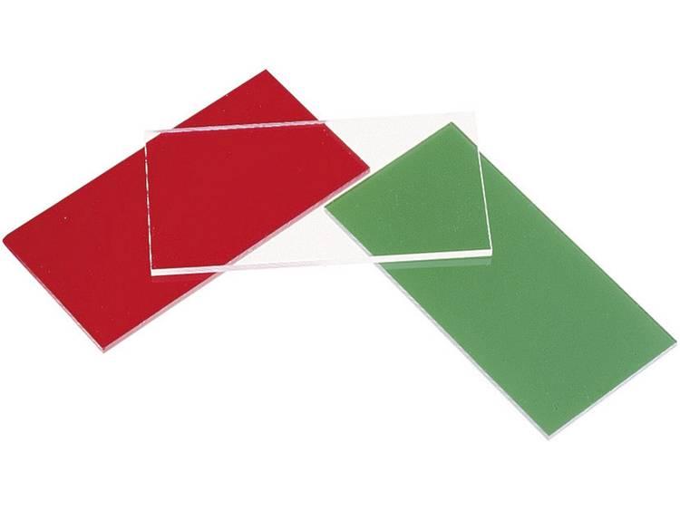 Acrylglas ring (l x b) 100 mm x 50 mm Materiaaldikte 3 mm Groen helder (getint) 1 stuks
