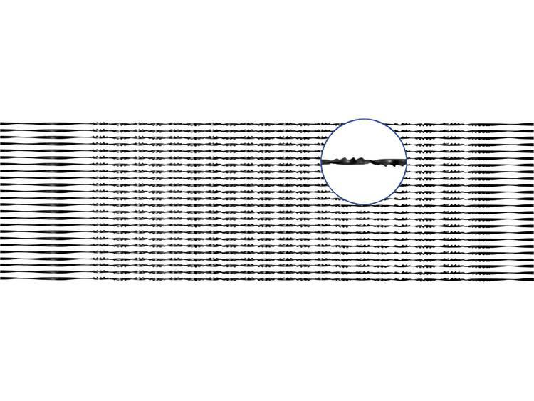 Figuurzaagblad voor zacht- en hardhout, kunststof, plexiglas verpakking van 24 stuks Zaagbladlengte 130 mm Zaagblad