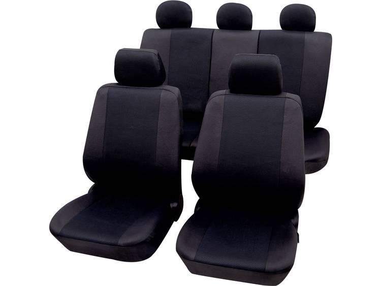 Petex 26174804 Sydney Autostoelhoes 11-delig Polyester Zwart Bestuurder, Passagier, Achterbank