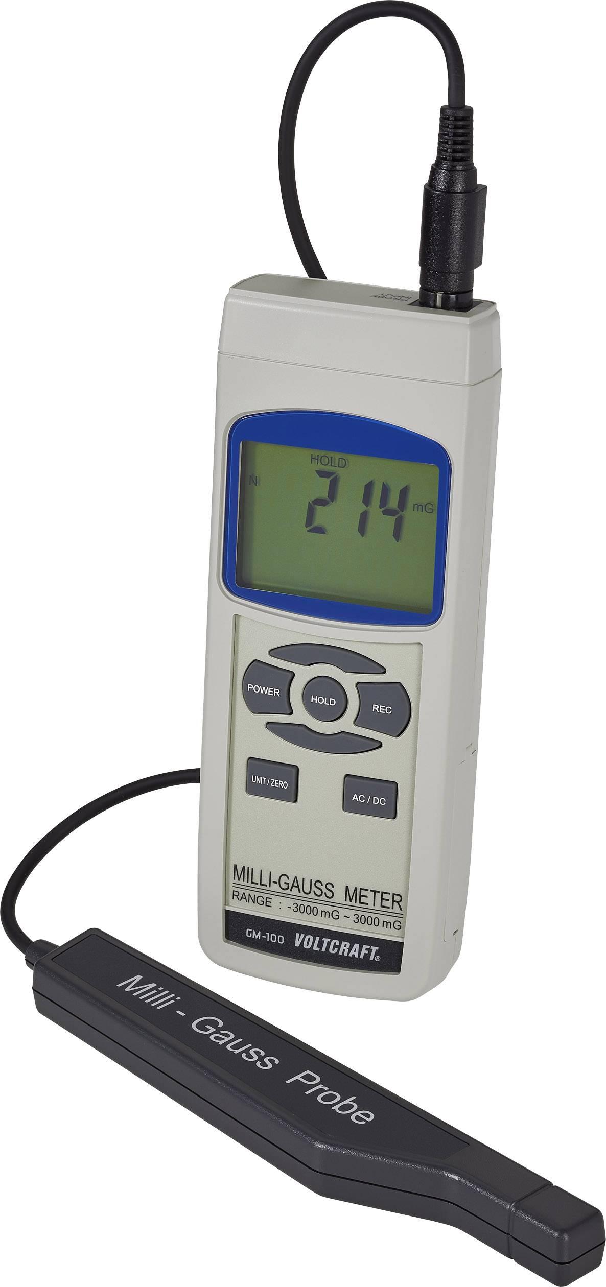Prístroj na meranie magnetického poľa VOLTCRAFT GM-100 101370
