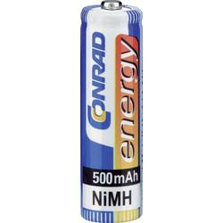 Mikrotužkový akumulátor typu AAA NiMH Conrad energy HR03 250185, 500 mAh, 1.2 V, 4 ks