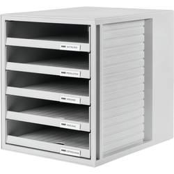 HAN 1401-11 box se zásuvkami, světle zelená, DIN A4, Počet zásuvek: 5