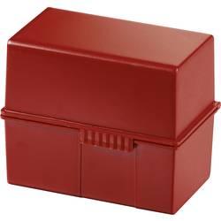 HAN 976-17 kartotéční box červená max. počet karet: 400 karet DIN A6 na šířku