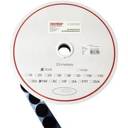 Guľatý suchý zips FASTECH® T01025999903C1, (Ø) 25 mm, čierna, 1 ks