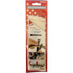 Káblový manažér na suchý zips FASTECH® 803-010, (d x š) 300 mm x 16 mm, biela, 10 ks