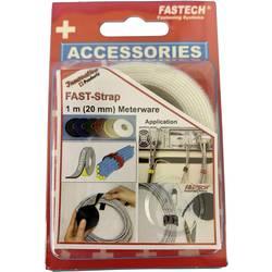 Stahovací páska se suchým zipem Fastech 910-010, bílá, 1 m x 20 mm, bílá, 1 m