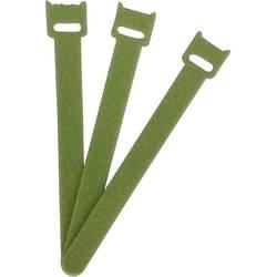 Stahovací páska se suchým zipem FASTECH® ETK-3-150-0332, (d x š) 150 mm x 13 mm, zelená, 1 ks