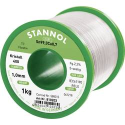 Cínová pájka PBF, Sn99Cu1, Ø 1 mm, 1000 g, Stannol FlowtinTC
