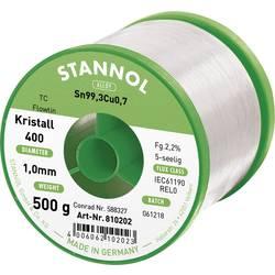 Cínová spájka PBF, Sn99Cu1, Ø 1 mm, 500 g, Stannol Flowtin TC