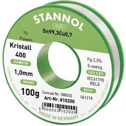 Cínová pájka PBF, Sn99Cu1, Ø 1 mm, 100 g, Stannol Flowtin TC