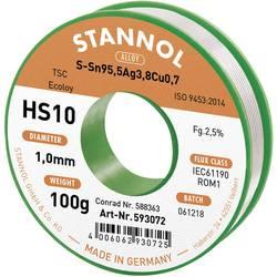 Cínová spájka PBF, Sn95Ag4Cu1, Ø 1 mm, 100 g, Stannol HS10 2510