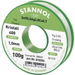 Cínová pájka PBF, Sn95,5Ag3,8Cu0,7, Ø 1 mm, 100 g, Stannol Flowtin TS