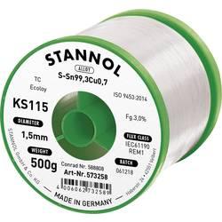 Cínová spájka PBF Sn99Cu1, Ø 1,5 mm, 500 g, Stannol KS115
