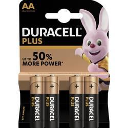 Tužková batéria typu AA alkalicko-mangánová Duracell Plus Power LR06, 1.5 V, 4 ks