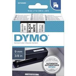 Páska do štítkovača DYMO 40913, 9 mm, 7 m, čierna, biela