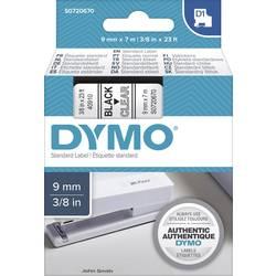 Páska do štítkovača DYMO 40910, 9 mm, 7 m, čierna, priehľadná
