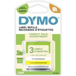 Páska do štítkovače DYMO 91241 (S0721800), 12 mm, LT LetraTAG, 4 m, černá/žlutá, 3 ks