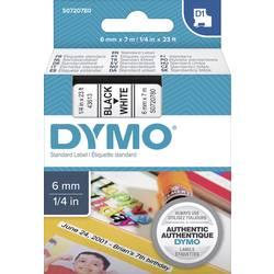 Páska do štítkovača DYMO 43613, 6 mm, 7 m, čierna, biela