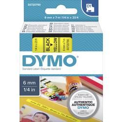 Páska do štítkovača DYMO 43618, 6 mm, 7 m, čierna, žltá