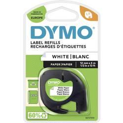 Páska do štítkovače DYMO 91220 (S0721520), 12 mm, LT LetraTAG, 4 m, černá/bílá