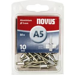 Slepý nýt Novus 045-0027, (Ø x d) 5 mm x 10 mm, hliník, 30 ks