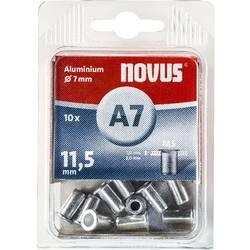 Hliníkové nýtové matice Novus, 5 x 11 mm, 10 ks