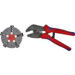 Krimpovacie kliešte neizolované otvorené zástrčky, izolované káblové koncovky, izolované zástrčky, dutiny na káble, neizolované káblové koncovky Knipex MULTICRIMP 97 33 02