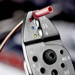 Krimpovacie kliešte izolované káblové koncovky, izolované zástrčky Knipex 97 21 215, 0.75 do 6 mm²
