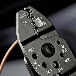 Krimpovacie kliešte izolované káblové koncovky, izolované zástrčky Knipex 97 22 240, 0.75 do 6 mm²