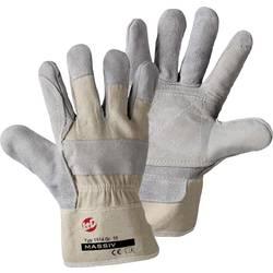 Pracovní rukavice ze štípenkové kuže, bílé, velikost 10