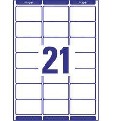 Permanentní Adresní nálepky, univerzální etikety Avery-Zweckform L7160-40, 63.5 x 38.1 mm, A4 papír bílá, 840 ks inkoust, laser, kopie