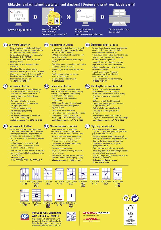 Avery Zweckform etikety 4781 97 x 42,3 mm