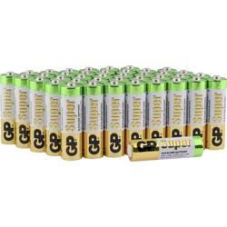 Tužková batéria typu AA alkalicko-mangánová GP Batteries Super, 1.5 V, 40 ks