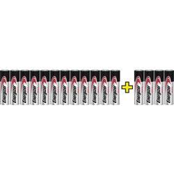 Tužková baterie AA alkalicko-manganová Energizer Max LR06, 12+4 gratis, 1.5 V, 16 ks