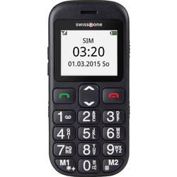 Swisstone BBM 320c telefon pro seniory nabíjecí stanice, tlačítko SOS černá