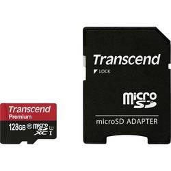 Paměťová karta microSDXC, 128 GB, Transcend Premium, Class 10, UHS-I, vč. SD adaptéru