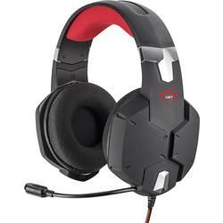 Trust GXT322 Dynamic Headset herní headset na kabel přes uši, jack 3,5 mm, černá, červená