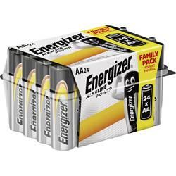 Tužková baterie AA alkalicko-manganová Energizer Power LR06, 1.5 V, 24 ks