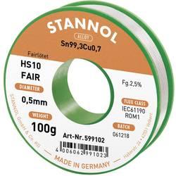 Pájecí cín Stannol HS10-Fair, cívka, 100 g, 0.5 mm