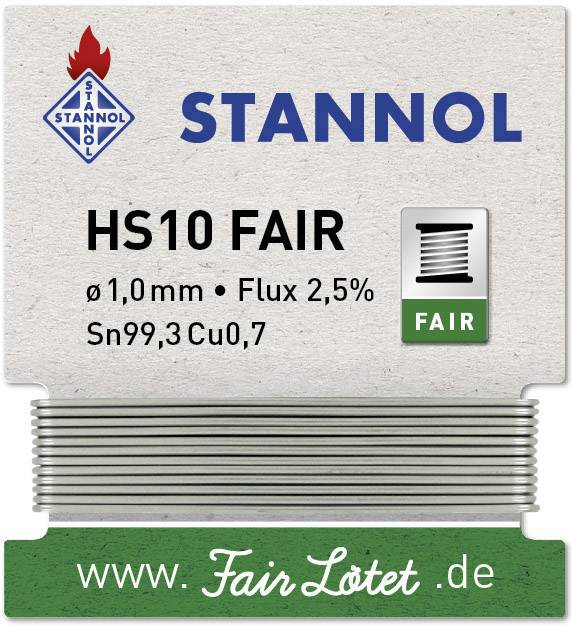 Pájecí cín Stannol HS10-Fair, naviják, 5 g, 1.0 mm