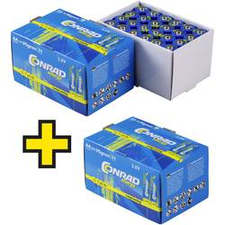 Tužková baterie AA alkalicko-manganová Conrad energy 1.5 V 72 ks