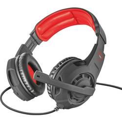 Trust GXT 310 herní headset na kabel, stereo přes uši, jack 3,5 mm, černá, červená
