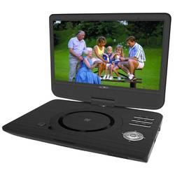 Přenosný DVD přehrávač 25.7 cm 10 palec Reflexion DVD1005 vč. 12V připojovacího kabelu do auta, napájení z akumulátoru černá